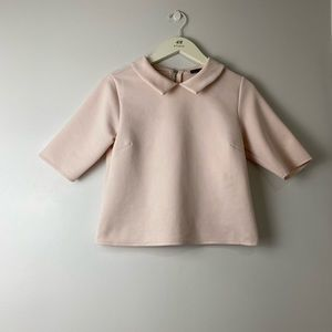 Zara Powder pink top. Size M Easter colors